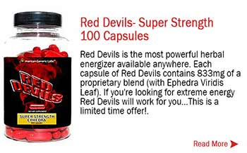 Red Devils- Super Strength Ephedra 100 Capsules